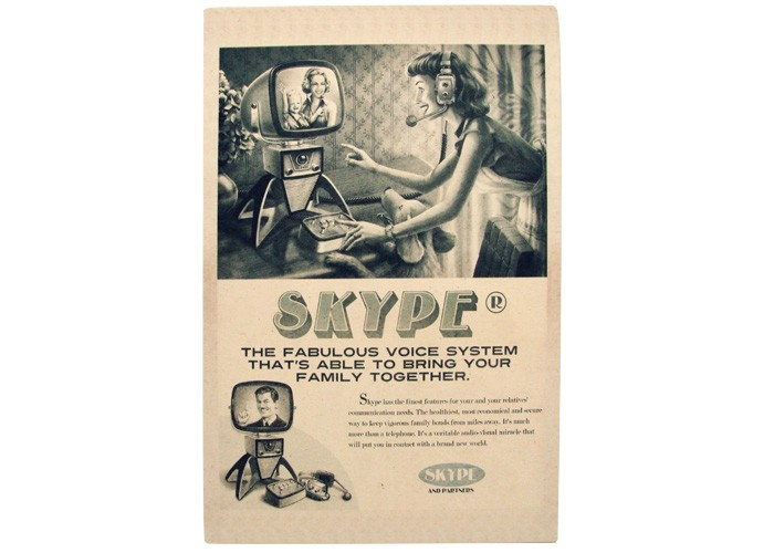 Quadro Skype Retrô