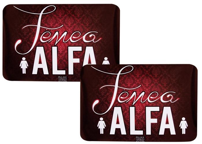 Jogo Americano Casal AlfaFêmea+Fêmea