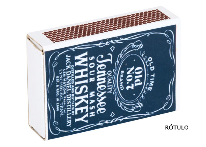 Imã Caixa de fósforo Jack DanielsRótulo