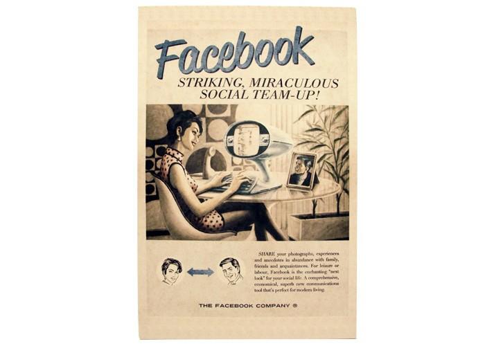 Quadro Facebook Retrô