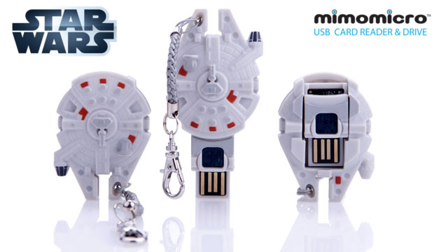 Pen Drive (leitor de MicroSD) Mimomicro Star Wars Millennium Falcon