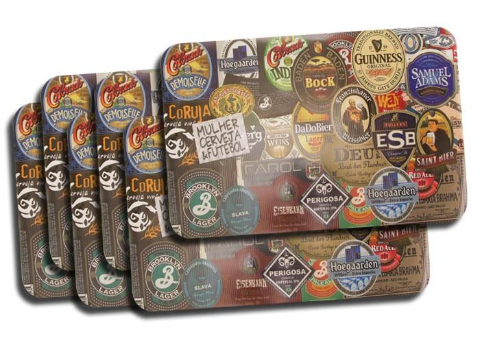 Jogo Americano Rótulos de Cerveja 6 peças