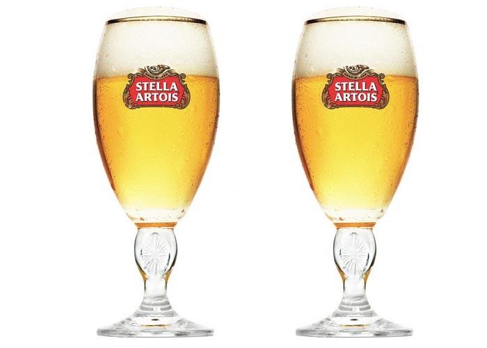 Conjunto de taças da Stella Artois com 2