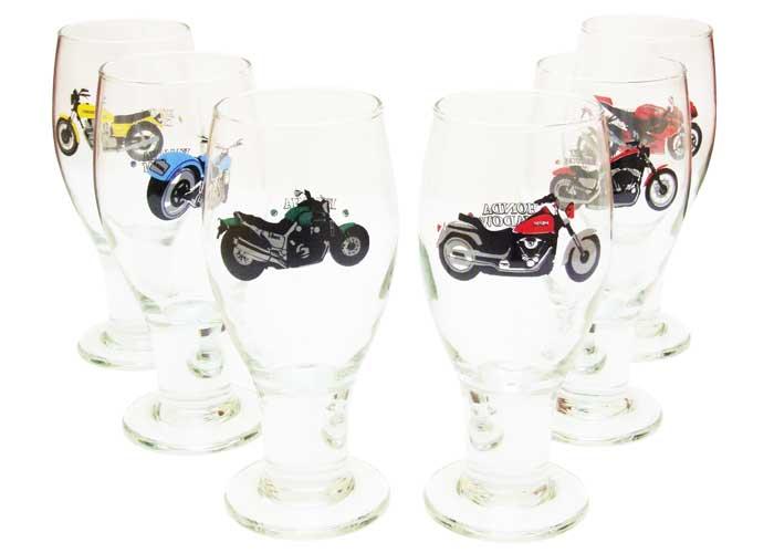 Conjunto de Taças de Cerveja Super Motos