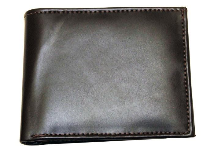 Carteira de couro com porta-moedaCafé