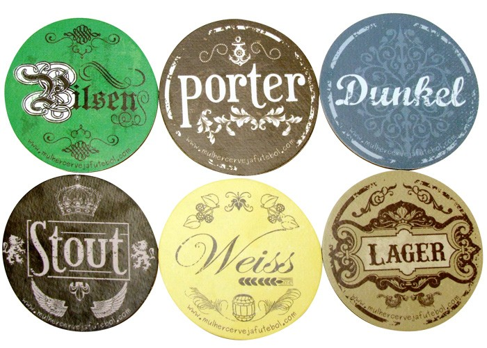 Porta-Copos Magnético Tipos de Cerveja