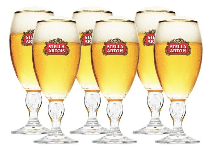 Conjunto de Taças Stella Artois com 6