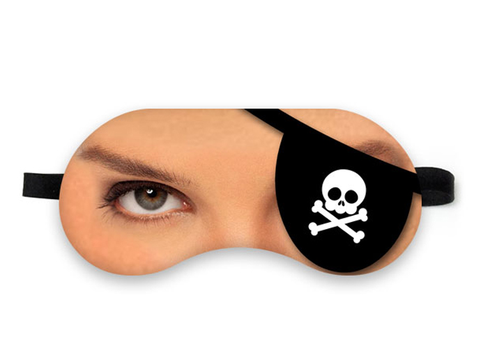 Mascara de Dormir Pirata Mulher