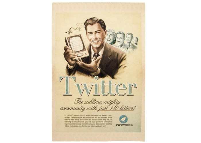 Quadro Twitter Retrô