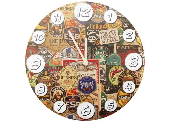 Relógio Rótulos de Cervejas