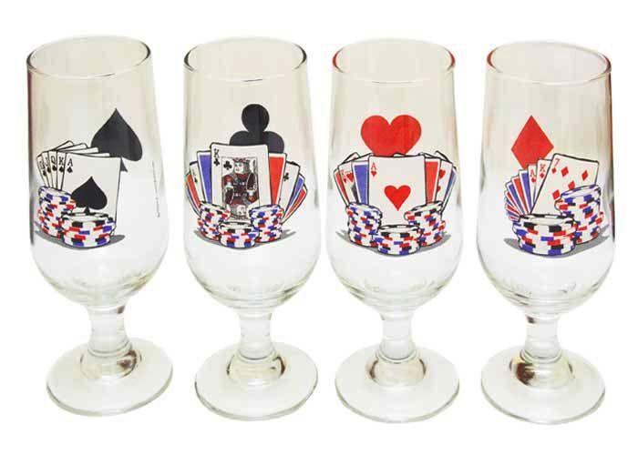 Conjunto de Taças de Cerveja de Cartas
