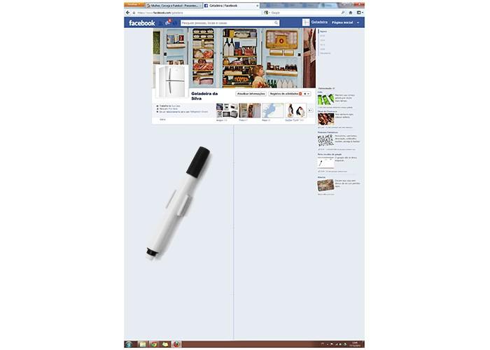 Porta recados para geladeira Facebook