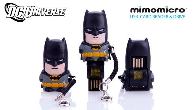 Pen Drive (leitor de MicroSD) Mimomicro DC Comics Batman