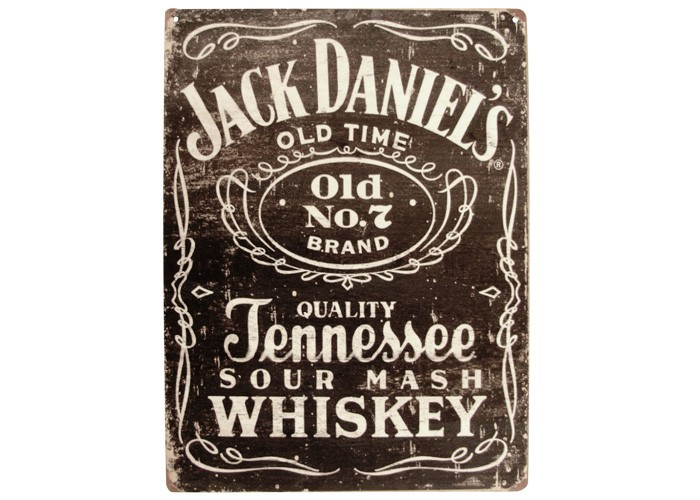 Placa Jack Daniels 40x30cm