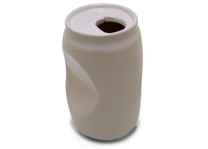 Vaso de Cerâmica Lata de Cerveja Amassada