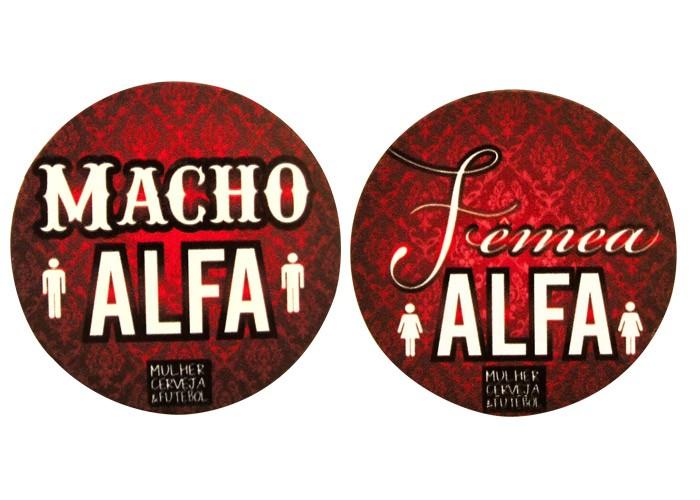 Porta-Copos Magnético Casal AlfaMacho+Fêmea