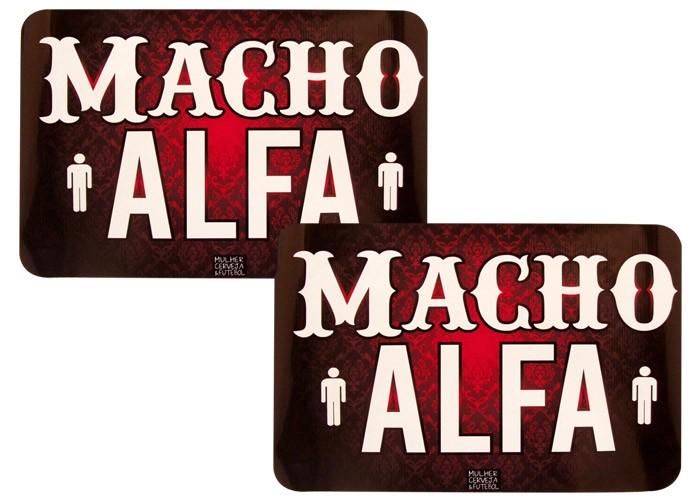 Jogo Americano Casal AlfaMacho+Macho