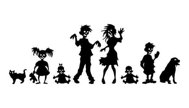 Adesivo Familia Zombie II
