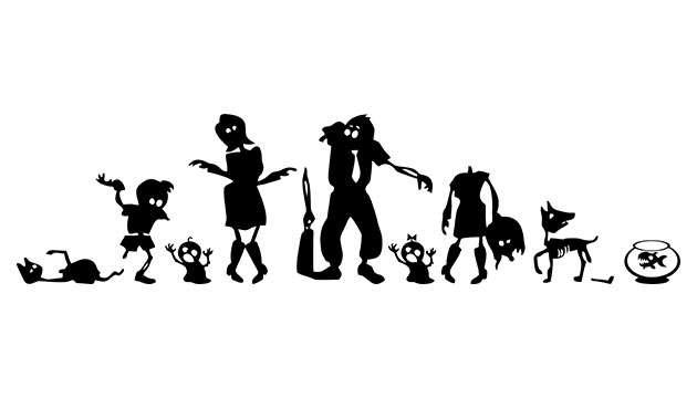 Adesivo Familia Zombie