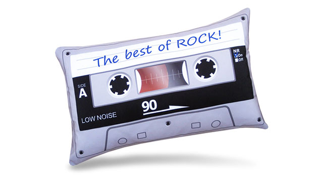 Almofada Retrô Fita Cassete - The Best Of Rock