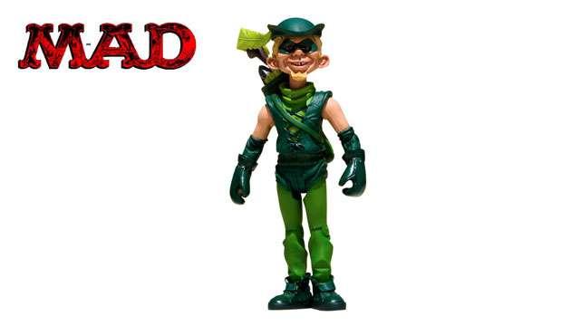 Boneco MAD Stupid Heroes Arqueiro Verde