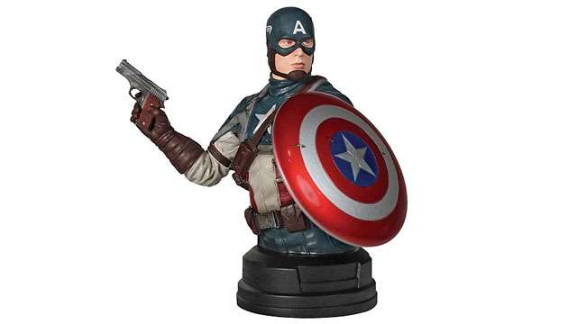 Busto Capitão América Gentle Giant (edição limitada apenas 1000 no mundo)