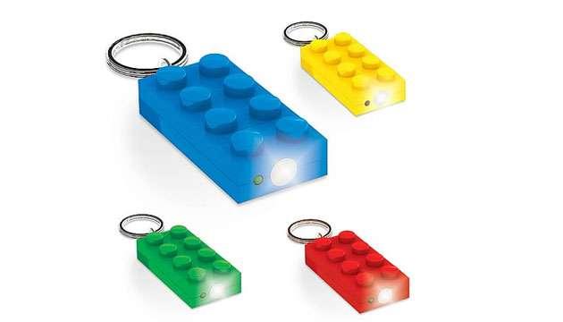 Chaveiro Lanterna LEGO 2x4 (Original)
