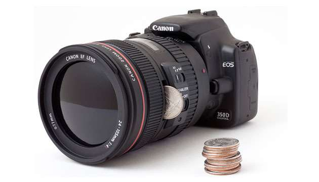 Cofrinho Camera DSLR Bank