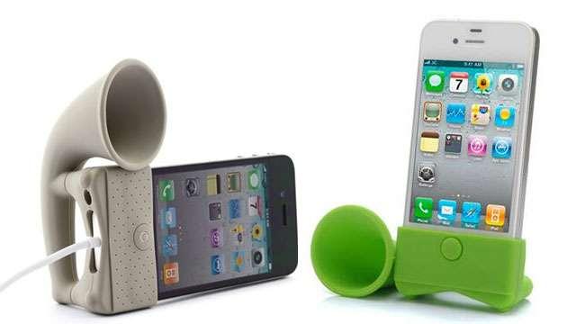 Horn Stand Amplificador de Som p/ iPhone - Branco