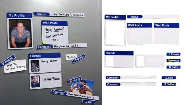 Kit de Ímãs Fridgebook