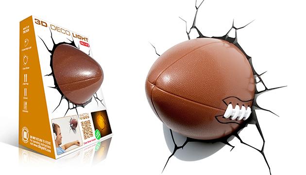 Luminária 3D Light FX Bola de Futebol Americano