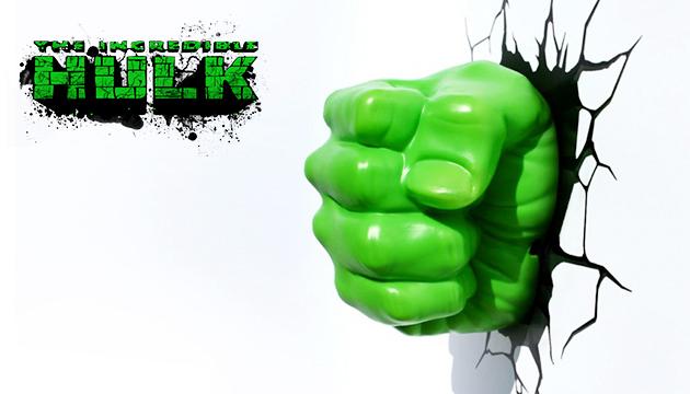Luminária 3D Light FX Punho do Hulk