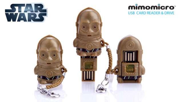 Pen Drive (leitor de MicroSD) Mimomicro Star Wars C-3PO
