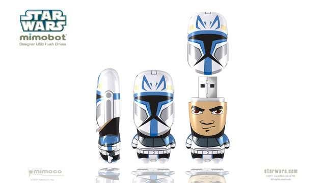 Pen Drive Mimobot® Stars Wars CAPITÃO REX - 4GB ou 8GB