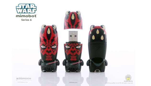 Pen Drive Mimobot® Stars Wars Darth Maul - 4GB ou 8GB