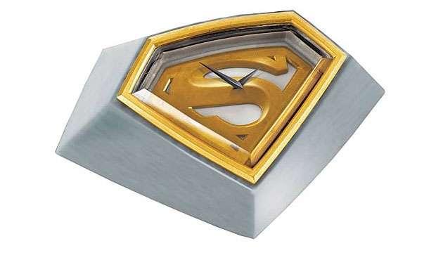 Relógio de Mesa Luxo SUPERMAN Gold