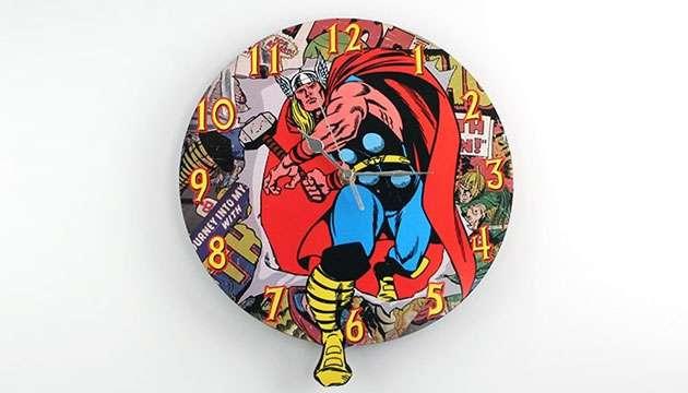 Relógio de Parede THOR (Oficial Marvel)