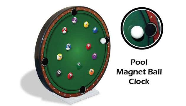 Relógio Sinuca Bola Magnética