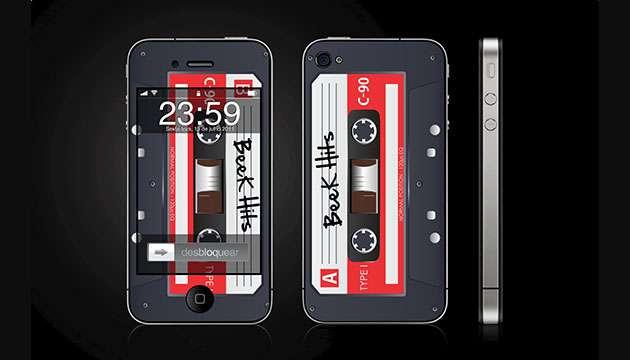 Skin BeeK Fita K7 preta - iPhone 4/4S (frete grátis)