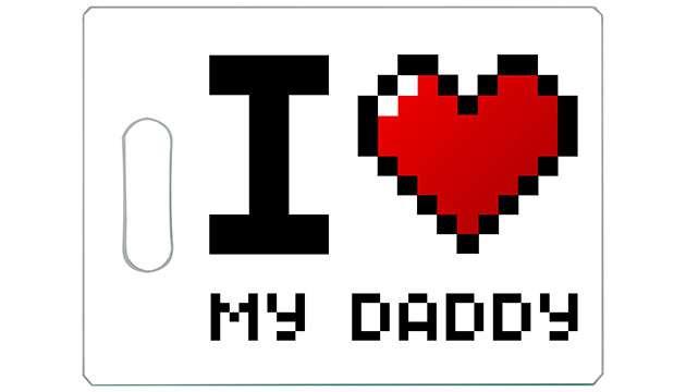 Tábua de Carne de Vidro 35x25cm Love Daddy