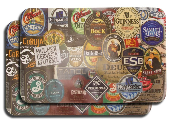Jogo Americano Rótulos de Cerveja 2 peças