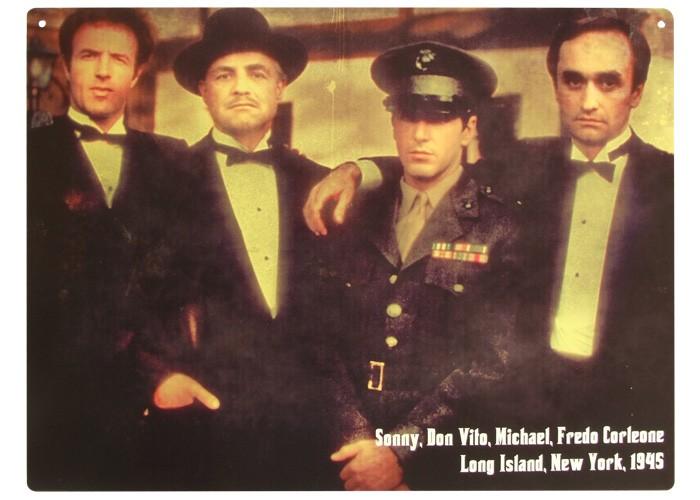 Placa Retrato da Família Corleone 40x30cm