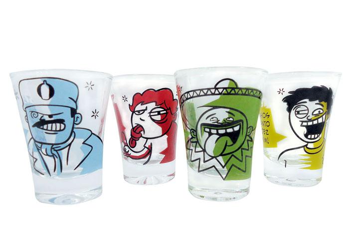 Jogo de 4 copos campana Todo Mundo Bebe