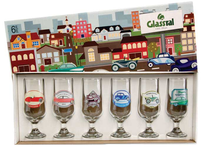 Conjunto de Taças de Cerveja Carros Antigos