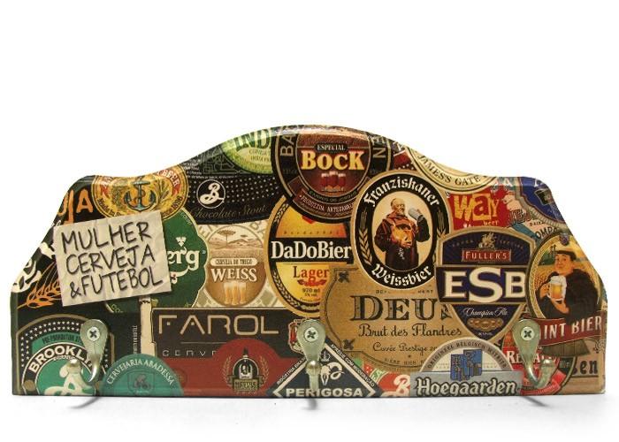 Porta-Chaves Rótulos de Cervejas