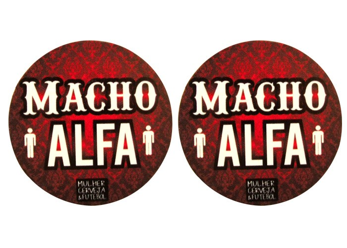 Porta-Copos Magnético Casal AlfaMacho+Macho