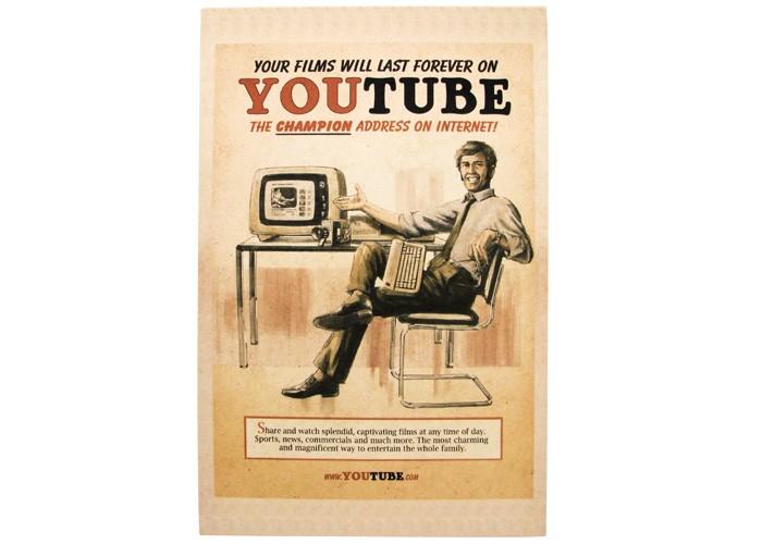 Quadro Youtube Retrô