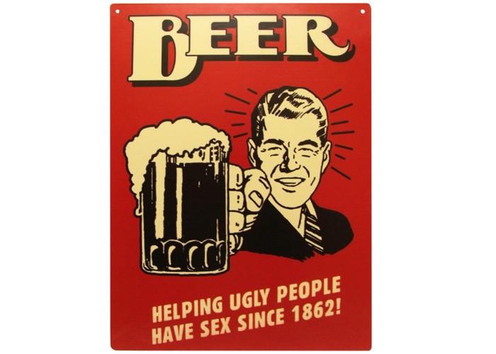 Placa Beer 30x20cm