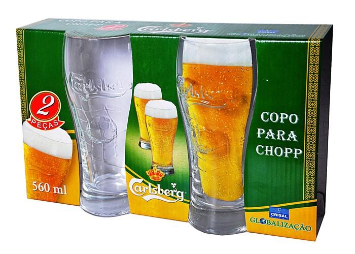 Conjunto de Copos de cerveja Carlsberg