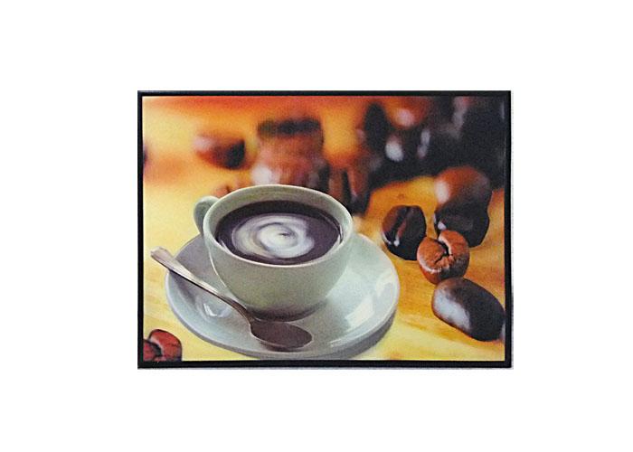 Quadro 3D de Café